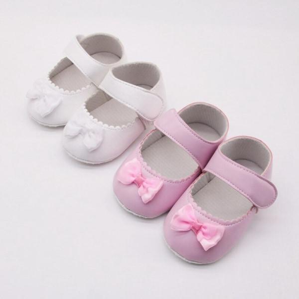 Sommar baby flickor PU prinsessan Casual skor med bowknot