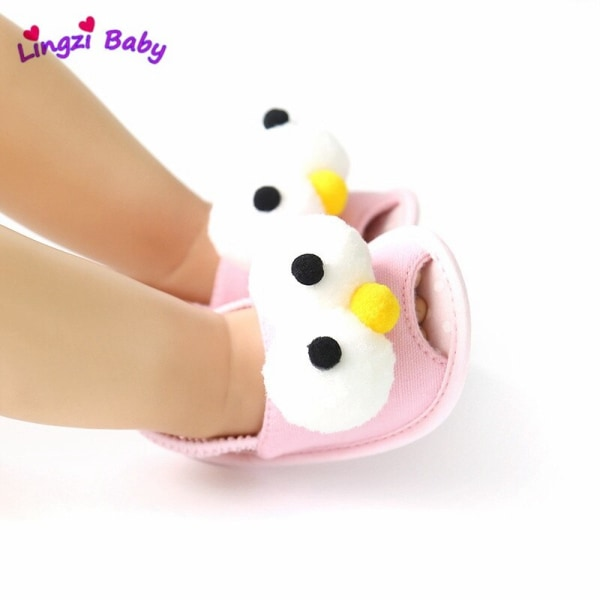 Summer cute Animal baby soft-soled toddler sandals Black 0-6Months