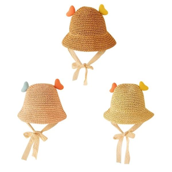 Summer Weave Sun Hat för babyflickor