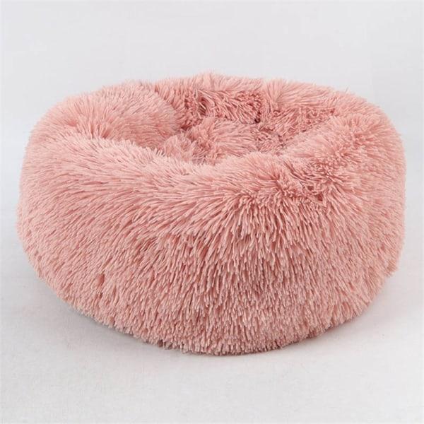 Varm fleece hundsäng rund kudde