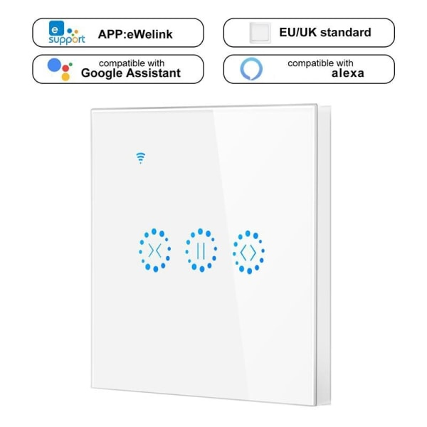 WiFi Smart Curtain Switch Touch Wireless Remote
