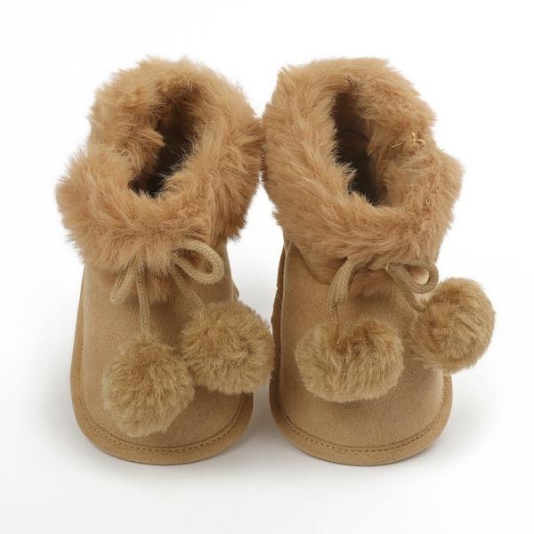 winnter baby plus velvet warm boots non-slip soft sole shoe C 6-12 month