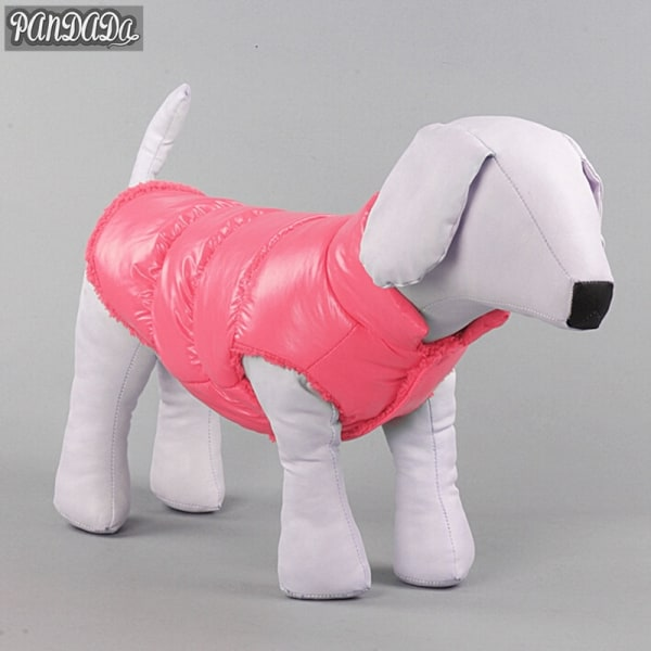 Vinterhundkläder Husdjur vadderad västrock Valp Varm dunfleece