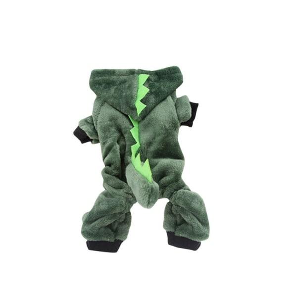 Winter Pet Dog Clothes Hoodies Down Jacket Waterproof Coat Green Xs