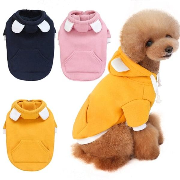 Vinter sällskapsdjur hundjacka söt björn örat design Hoodie sammet kläder
