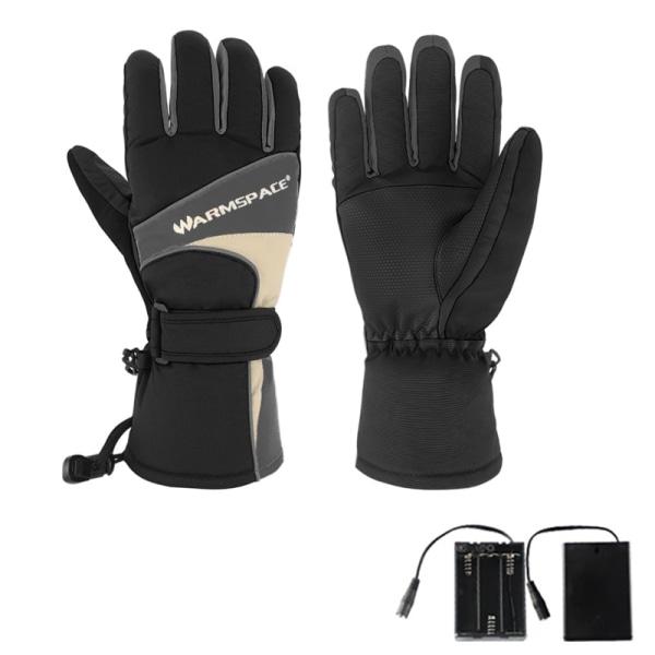 Winter USB Electric Waterproof Warmer Heated Gloves Ski Gloves Black XL