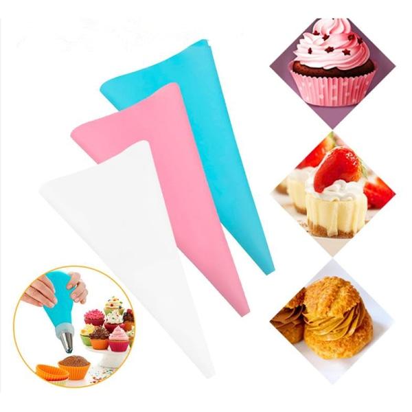 1 st konfektyrpåse eva glasyr kräm bakverk pås munstycke diy tårta