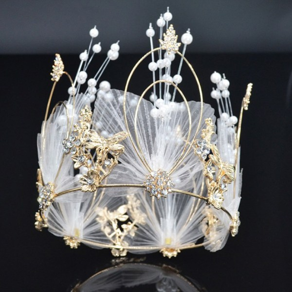 2020 rund krona tiara huvudband fest tårta dekoration hår jewe