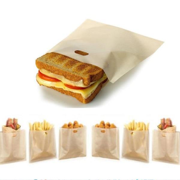 2st brödrostpåsar för grillade ostmackor återanvändbara icke-sti