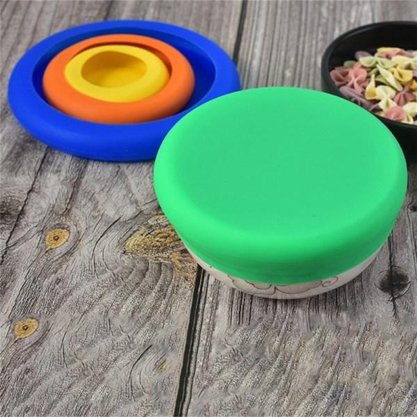 4st återanvändbara behållare för förvaring av silikonfruktgrönsaker