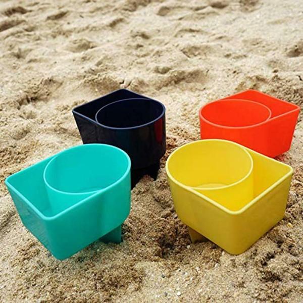 strandkopphållare plastdrinkstativ hållbar sandspik bärbar