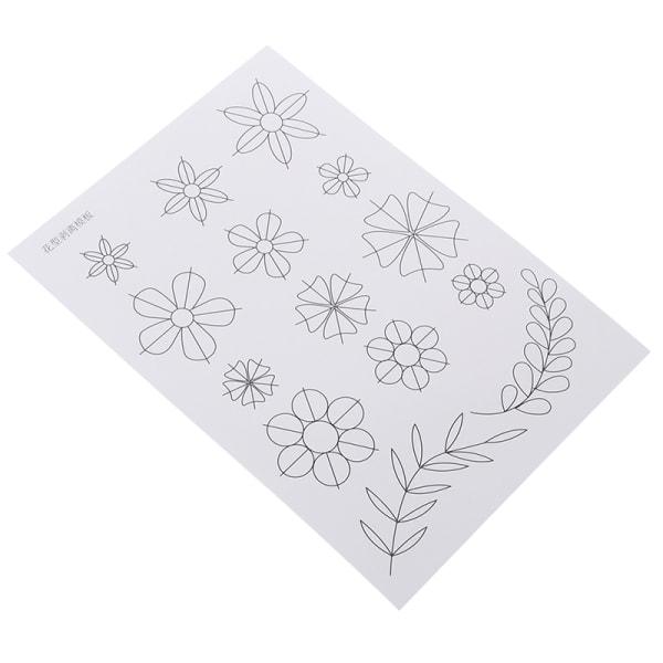 blommönster quilling papper mall mögel verktyg DIY klippbok