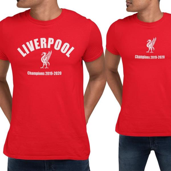 2st Liverpool t-shirts med Champions tryck 2020 Röd S