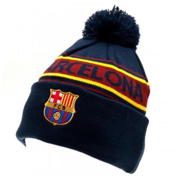 Barcelona mössa med klubbmärke -  Stickad vintermössa