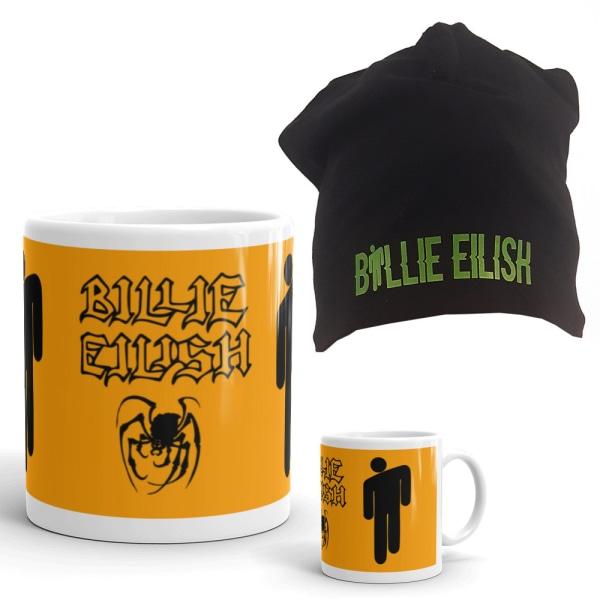 Billie Eilish Mössa + Mugg paket med tryck