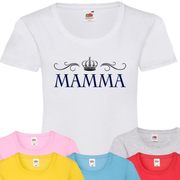 Dam mamma t-shirt - flera färger  Röd T-shirt - XXL
