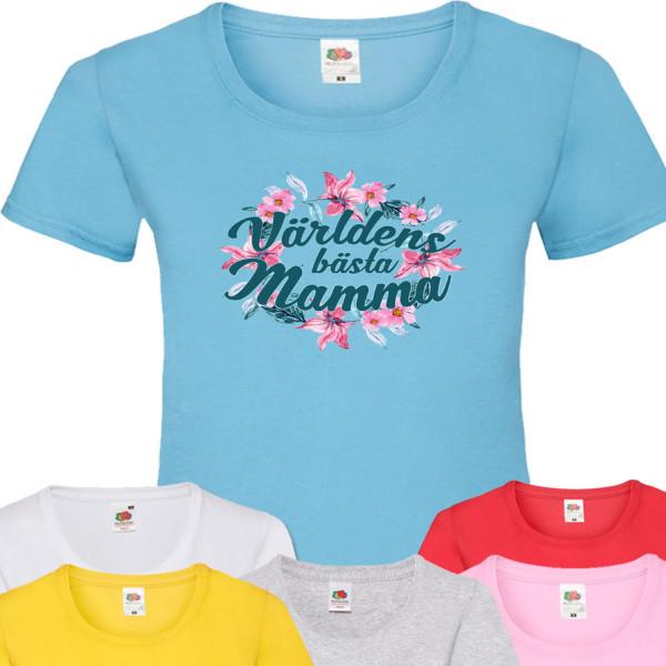 Dam mamma t-shirt - flera färger  Ljus blå T-shirt - Large
