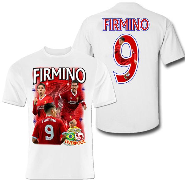 Firmino 9 Liverpool t-shirt med tryck fram & bak YNWA L