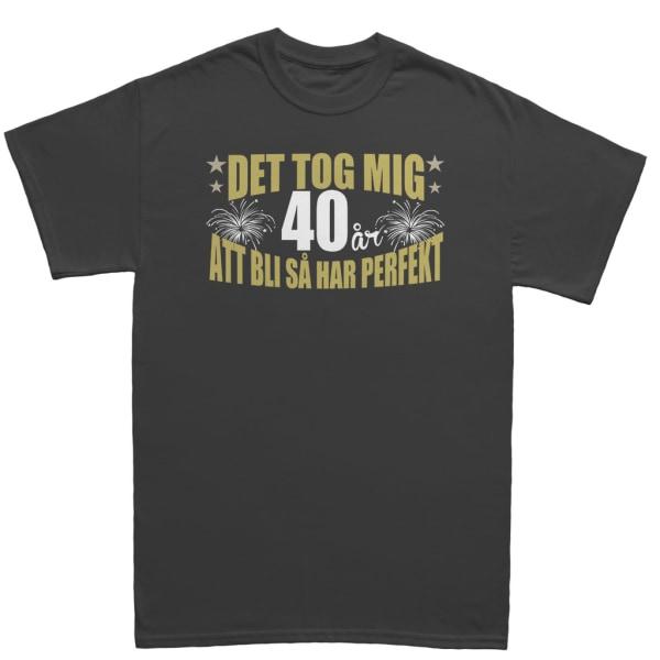 Födelsedag T-shirt - Det tog 40 år att bli perfekt XL