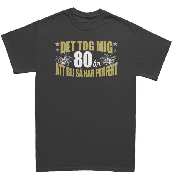 Födelsedag T-shirt - Det tog 80 år att bli perfekt M