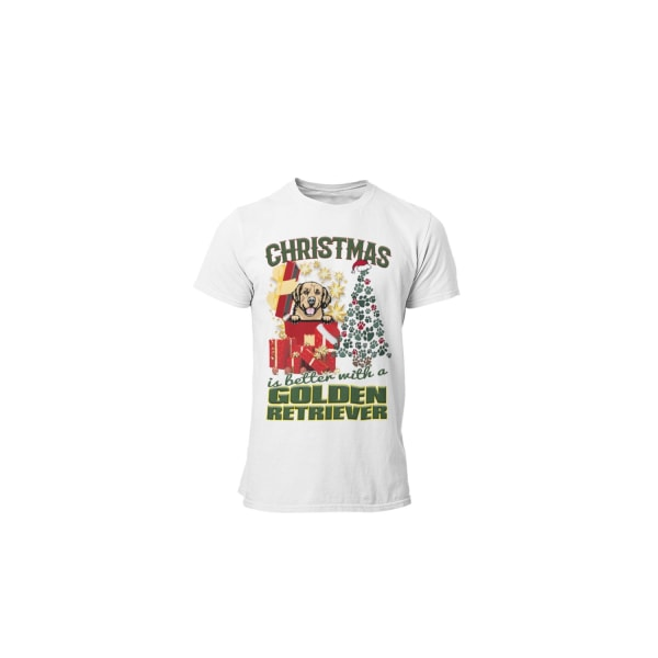Golden retriever Jul  hund t-shirt  White L