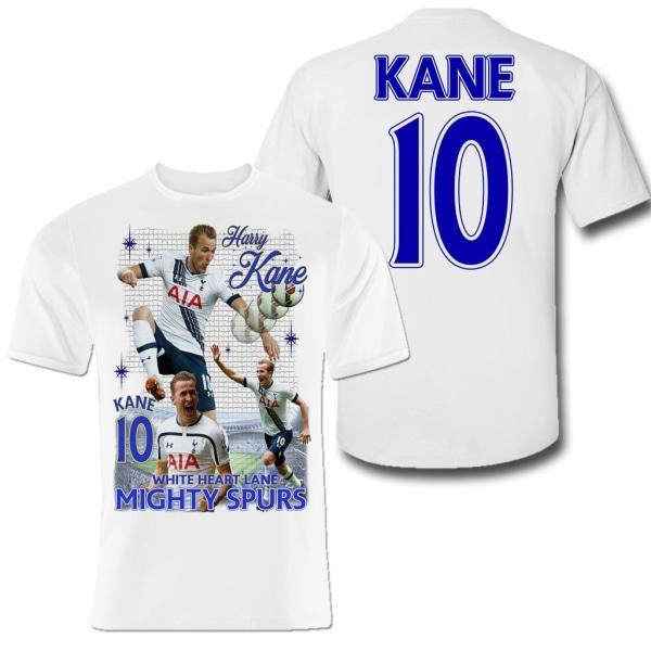Harry Kane t-shirt med tryck fram & bak Tottenham & England 140cl 9-11år