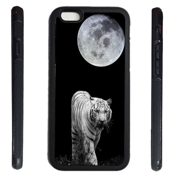iPhone 6 skal med Vit Tiger måne bild tryck