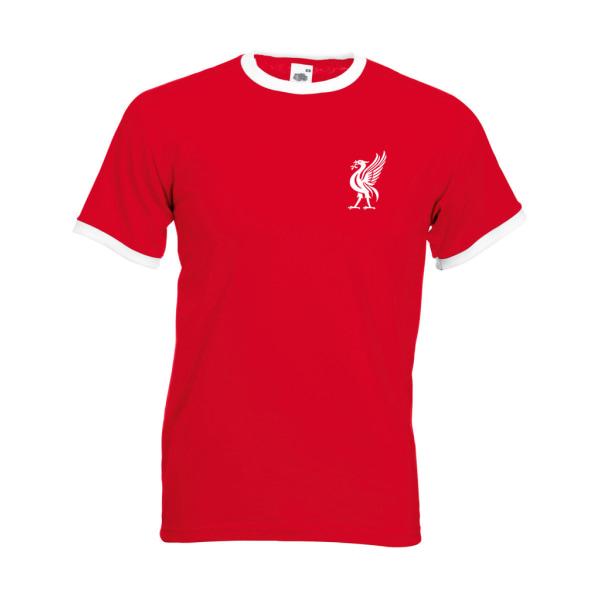 Liverpool stil t-shirt med Liverbird Retro tröjor M