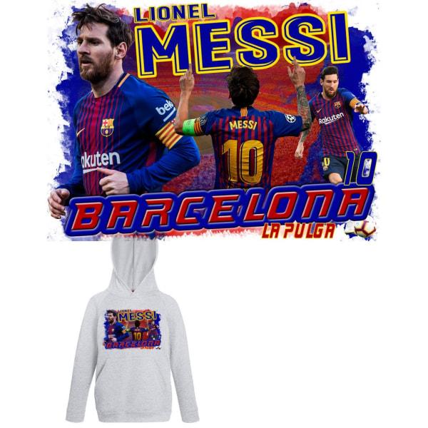 Messi barn Hoodie Sweatshirt t-shirt - Barcelona spelare design 128