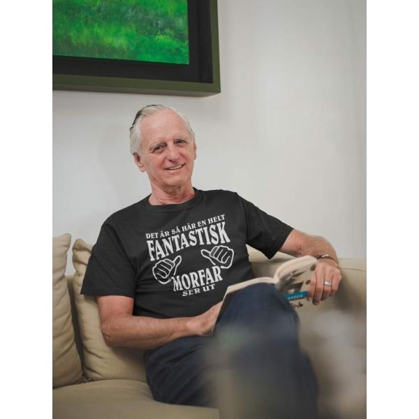 Morfar T-shirt - så här en helt fantastisk Morfar ser ut Black L