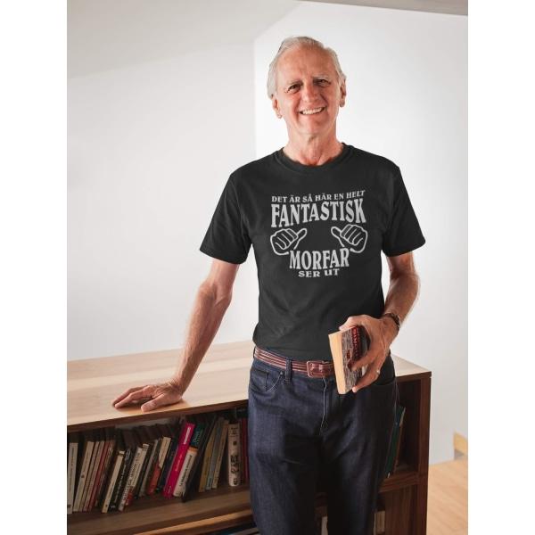 Morfar T-shirt, svart - Hur en helt fantastisk Morfar ser ut XXL