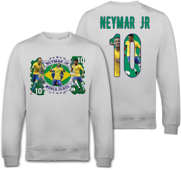 Neymar Jr Brasil sweatshirt med tryck fram & bak 7-8 �r 130cl