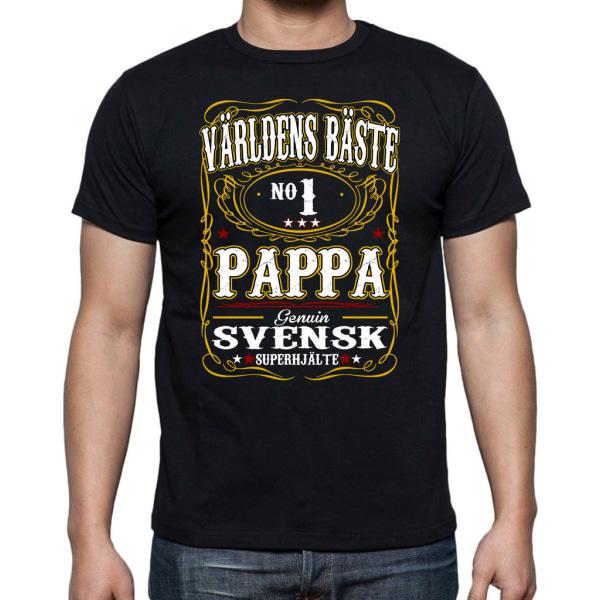 Pappa T-shirt  - Genuin Världens Bästa Pappa L