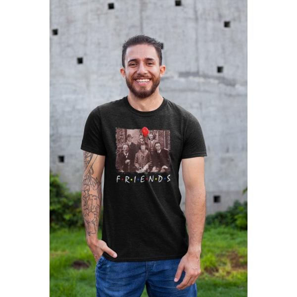 Svart skräckfilm t-shirt Pennywise Jason Jigsaw & friends XL