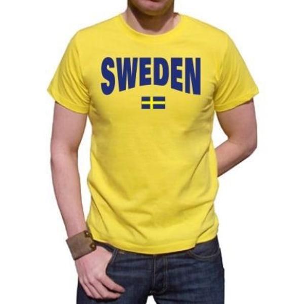 Sverige T-shirt med Svensk Flagga - Storlek XL XL