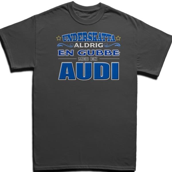 T-shirt - Underskatta aldrig en gubbe med en AUDI Black XXL