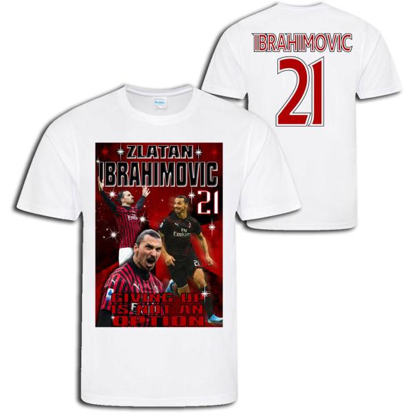 Zlatan Ibrahimovic - AC Milan  stil sports t-shirt  Vit XL