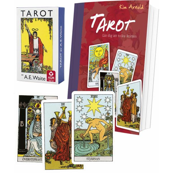 Tarotpaket: Tarot bok + Waite svensk tarot (standard)
