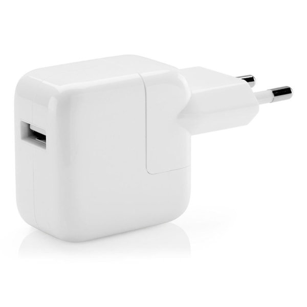 Apple original iPad/iPhone laddare, 2.1A, 12W, vit vit