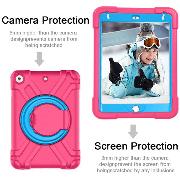 Barnfodral med roterbart ställ, iPad Mini 5, rosa/blå rosa