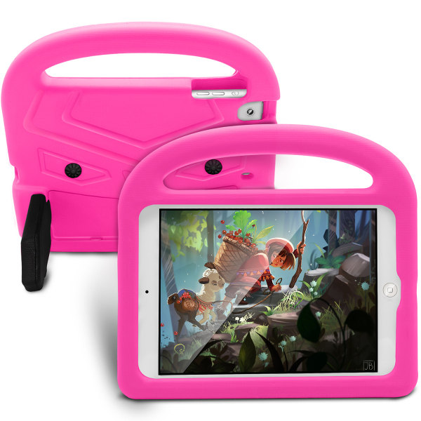 Barnfodral med ställ rosa, iPad mini 5 rosa