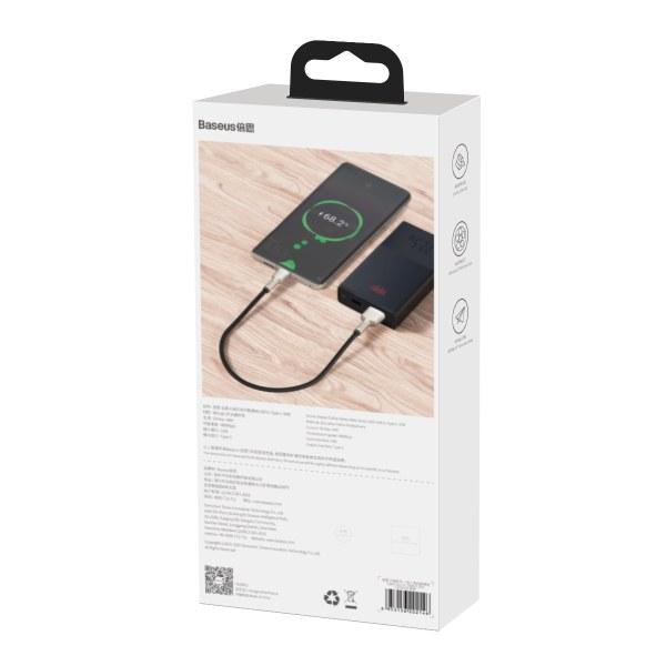 Baseus Cafule USB till USB-C datakabel, 40W, 5A, 0.25m, svart