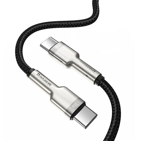 Baseus Cafule USB-C till USB-C datakabel, 100W, 5A, 2m svart