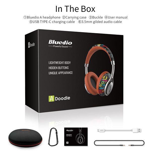 Bluedio A2 (Air) Lightweight Series Bluetooth 4.2, blå/lila Blå/Lila