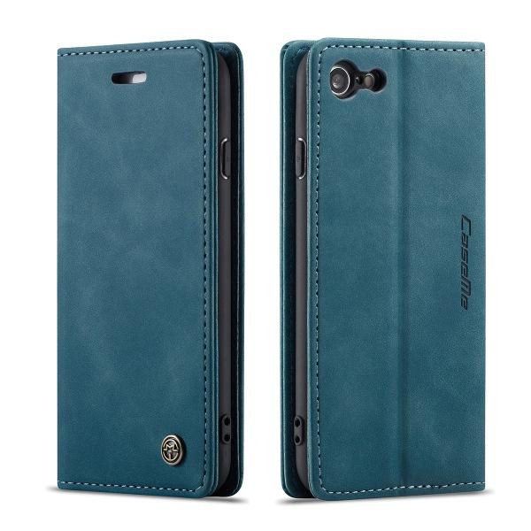 CaseMe plånboksfodral, iPhone 8, blå blå