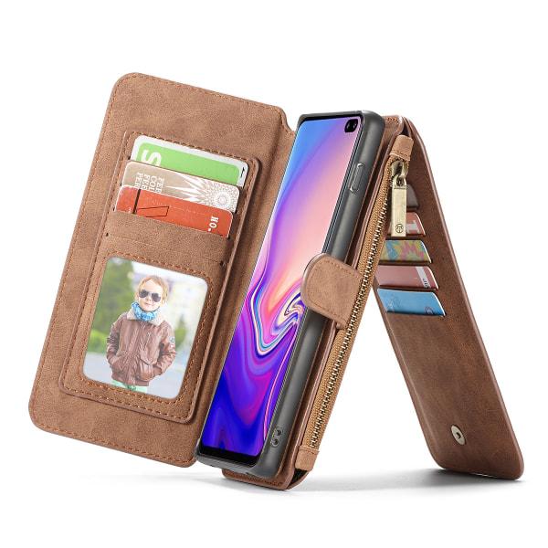 CaseMe plånboksfodral, Samsung Galaxy S10 Plus brun
