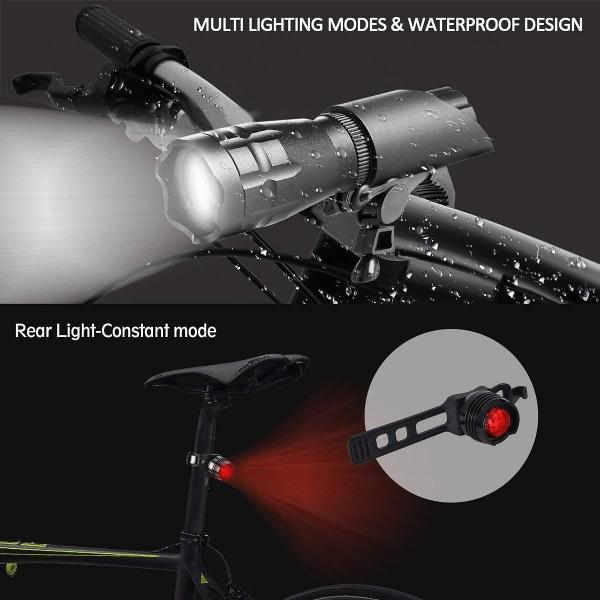 Cykelbelysning LED med fram och bakljus