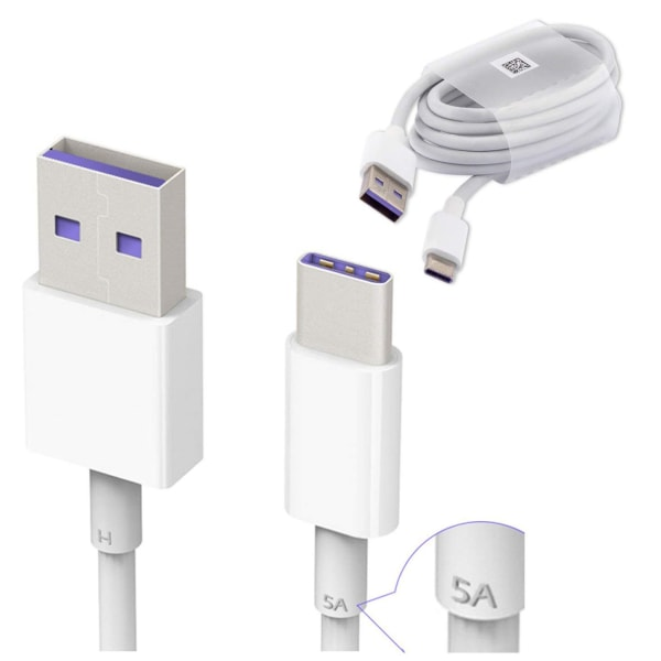 Huawei HL1289 SuperCharge USB-C 3.1 kabel 1m, vit