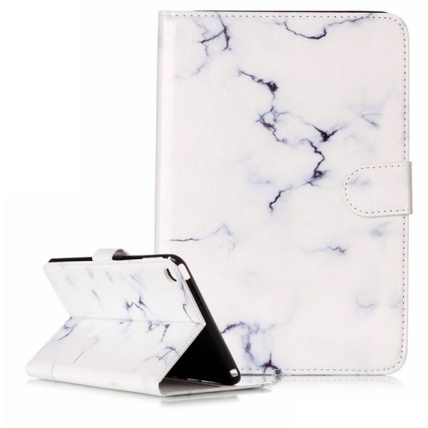 Läckert läderfodral marmor, vit, iPad mini 2/3 vit