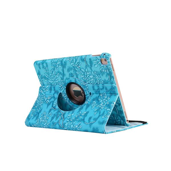 Läderfodral blommor blå, iPad Pro 10.5 blå